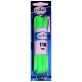 Sportinės avalynės raišteliai žalios spalvos Nr. 4 Class, 110 cm (1 pora)