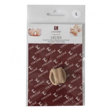 Elastinis apsauginis piršto žiedas su gelio pagalvėle GELTEX Coccine L dydis, 1 vnt 4