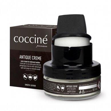 Kremas ANTIQUE lygios odos avalynės ir galanterijos priežiūrai Coccine, 50 ml