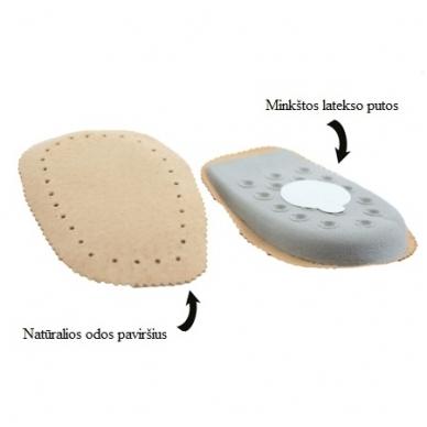 Minkštos odinės pakulnės su lateksu Coccine, 1 pora 2