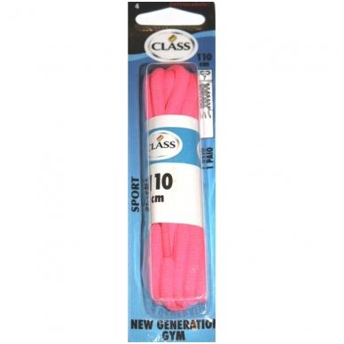 Sportinės avalynės raišteliai rožinės spalvos Nr. 4 Class, 110cm (1pora)
